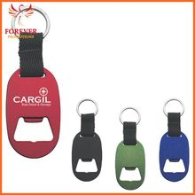 Metal Tag With Bottle Opener Key Chain With Strap Chinese Supplier