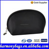 Simple design zippered black toiletry bag