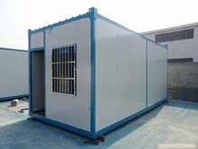 SGS/CE 20ft low cost square small prefab container house with plastics