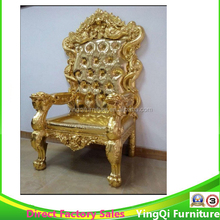 Hotsale Hotel Golden Wedding Throne King Chair