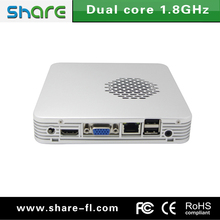 embedded mini pc with wifi 12v 14*14CM Small size with silver metal case Manufactory in Shenzhen of China