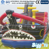 Pirate Ship Inflatable Slide Bouncy Trampoline Jumping Game For Kids