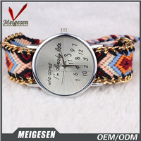 Ribbon watch with interchangeable straps for latest vogue lady watch