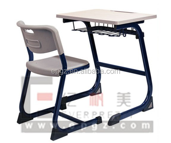Ergonomic single student table with chair set for school - Ergonomic table and chair ...