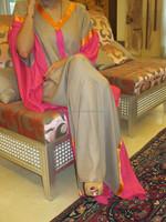 islamic embroidery arabic abaya for muslim women Georgette Kaftan designer dress dubai fashion cafta arab jalabiya k6812