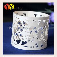 Ivory pearl paper lace supplies wedding decoration napkin ring holder