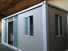 prefab container offices with big glass door
