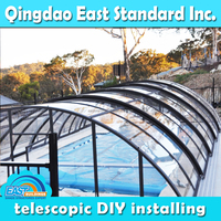 East Standard retractable swimming pool cover tent