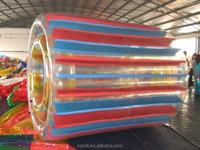 Latest plastic big water walking inflatable fun roller