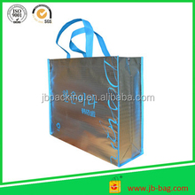 silver laminated non woven tote bag