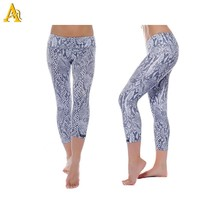 90% polyester 10% spandex sublimation yoga pants wholesale