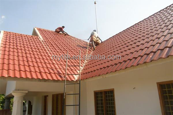 Rose Red Ceramic Spanish roof tile, View red cerammic roof tile ...