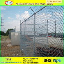 used in playground 6 feet PVC Coated Galvanized Iron chain link Fence
