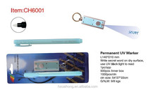 Most salable fancy jade color pen stick invisible promotion uv magic pen & uv marker CH-6001