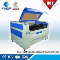 Wuhan Keyland laser engraving machine for paper box template with Co2 laser 80W glass laser tube