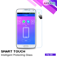 0.35mm APP function anti shock&shatter,9H tempered glass for samsumg