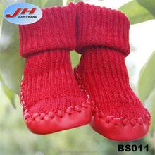 New Born Baby Red Knitted Wool Fancy Socks baby socks like shoe