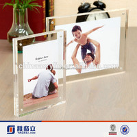 Stand up acrylic picture frames magnetic 4x6 bulk picture frames crystal magnetic acrylic picture frames bulk