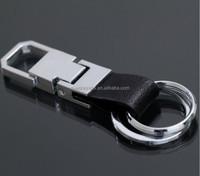 Keyring Charm Pendant Purse Bag Key 2 Ring Chain Leather Keychain key Fob