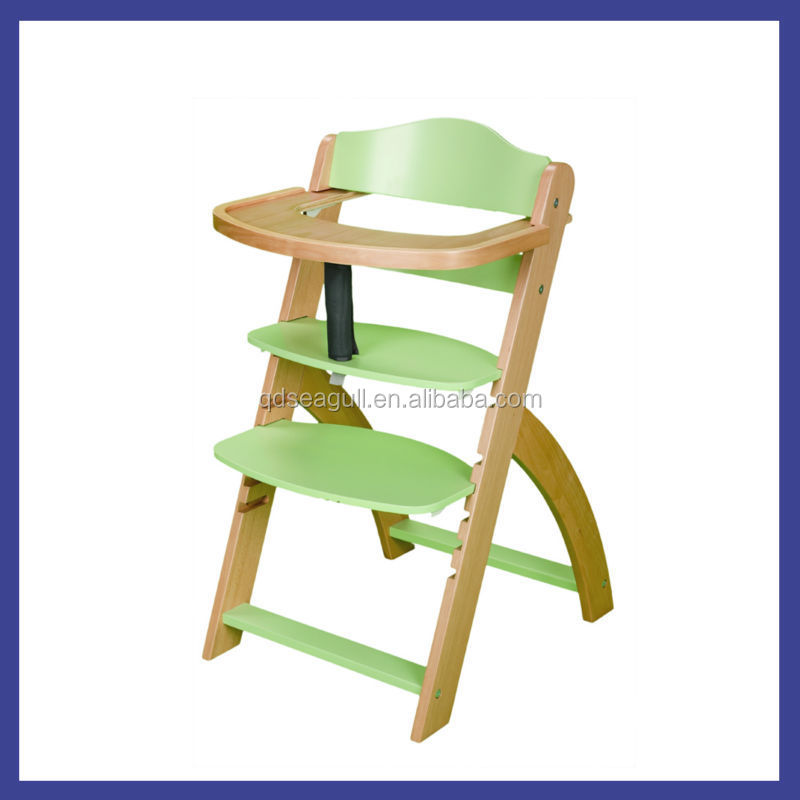 Adjustable high back beech wood sitting feeding chair for for Toddler sitting chair