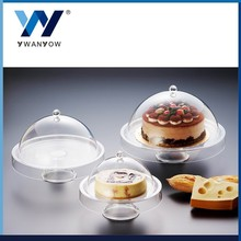 YY dessert tray acrylic transparent covered cake plate with dome