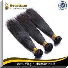 Grade 6A human hair silky healthy cheap virgin brazilian relaxed straight hair
