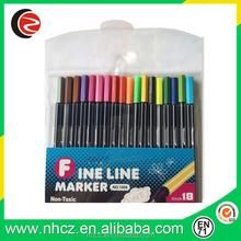 Mixed 18 Colors 0.4MM fine liner pen