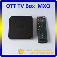 2015 Hot Sale Smart TV Box Pre-installed Latest Xbmc Kodi Fully Loaded Android TV Box MX Amlogic S805 Quad Core Mxq OTT TV Box