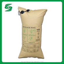 Strong recycled brown paper dunnage air bag / Environmental and Customs inspection exempt