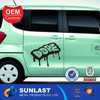 Sample order is available funny car decals Water proof pvc Window car sticker