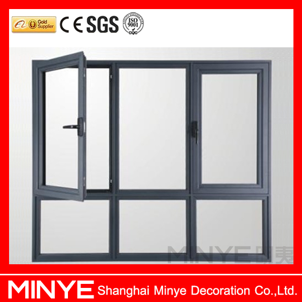 Tilted Window Fixed : Aluminum open window with fixed windows tilt and turn