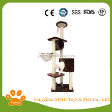 Very welcomed cat scratching tree cat toy ring