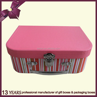 Lovely and safety cardboard children suitcase/Storage Box