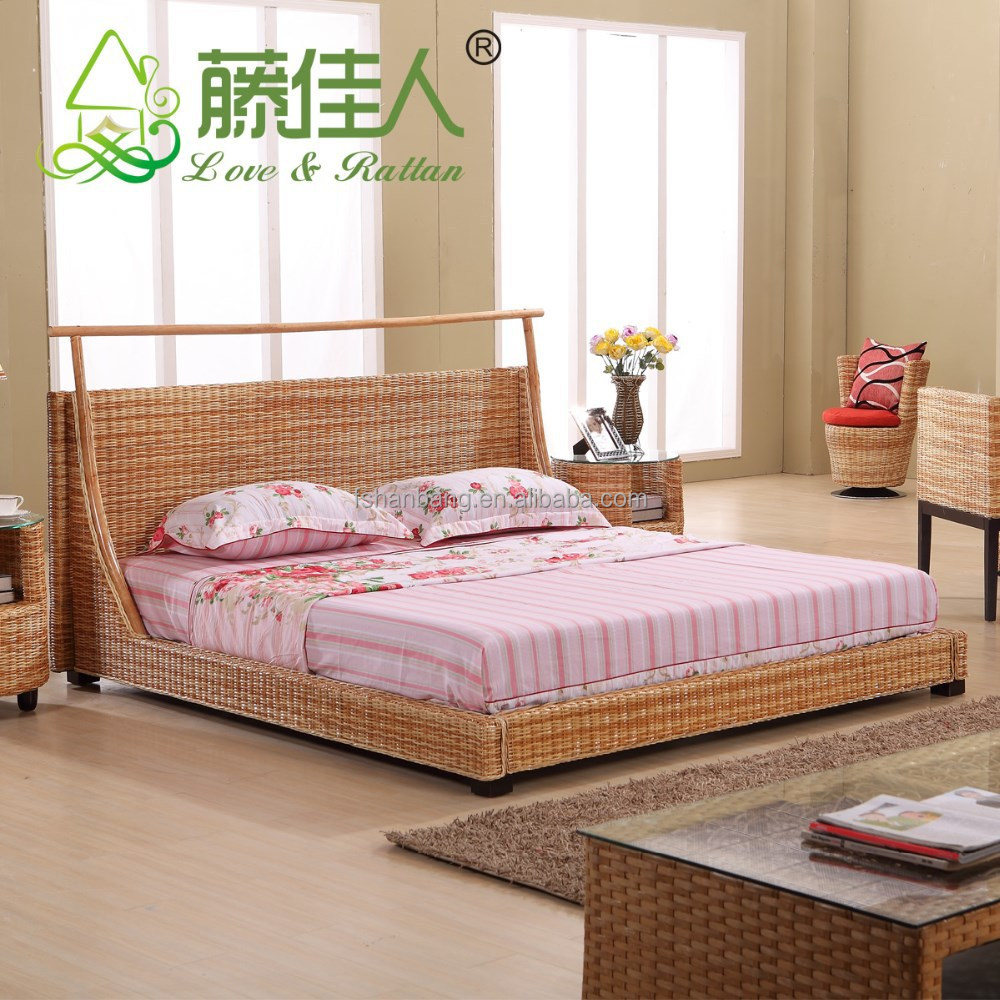 Cheap wicker bedroom furniture buy natural rattan for Where to get cheap bedroom furniture