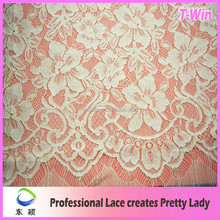 Super quality crochet allover lace african lotus cord lace for making shoes