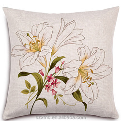 American style white blank pillow 18''x18'' , white blank pillow covers and cushion cover