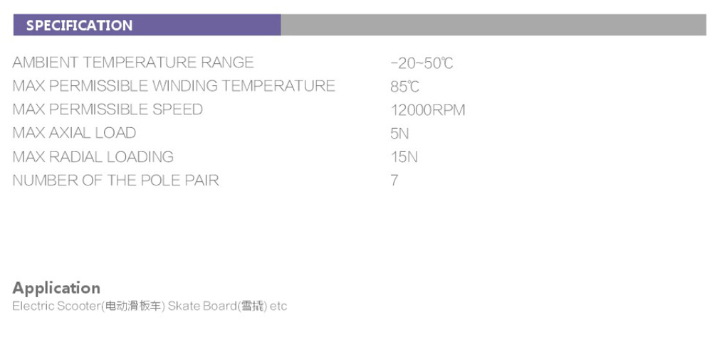400W Outrunner BLDC Motor