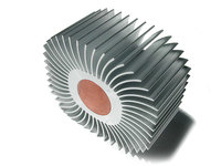 aluminum circular heat sink / round aluminium heatsink