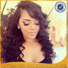 alibaba cheap wholesale virgin glueless human hair lace front wigs with bangs for black women