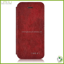 Flip wallet leather case for iphone 5