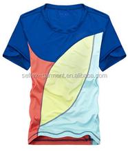 Polyester DIY Print Logo women's Short Sleeve Fashion sport T-Shirt