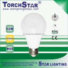 12W A65 pear shape E27 LED light bulb