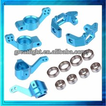 HSP Upgrade Parts 102010 102011 102012 Accessories 02013 02014 02015 Aluminum Steering Hub Mount For 1/10 RC 4WD Car CNC