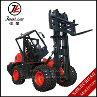 5.0T/10T Four Wheels Driving Cross-country Forklift Internal Combustion Diesel Forklift for Sale
