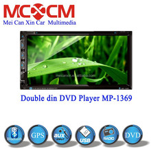 New product 6.95' double din car dvd player with gps navgation bluetooth fm/am ipod