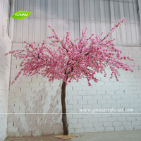BLS1507-18 GNW Decorative Artificial Cherry Blossom Bent Tree Stump for wedding wall decoration