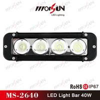 4x4 accessories single row LED light bars 12V 40W led light bar for boats
