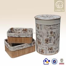 2015 ALIBABA Summer Holiday new product household folding bamboo organic cotton laundry bag