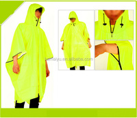 colorful waterproof breathable rain ponchos with logo printed