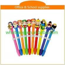 diy cartoon polymer clay ball pen cheap promotional plastic transparent ball pen